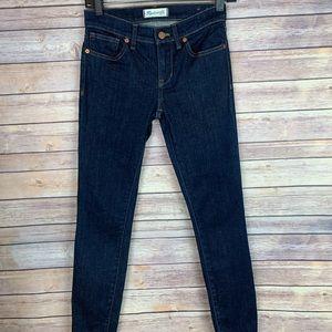 "Madewell Skinny Skinny Dark Quincy Wash 8"" Jeans"